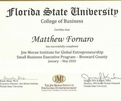 FSU Award Cert
